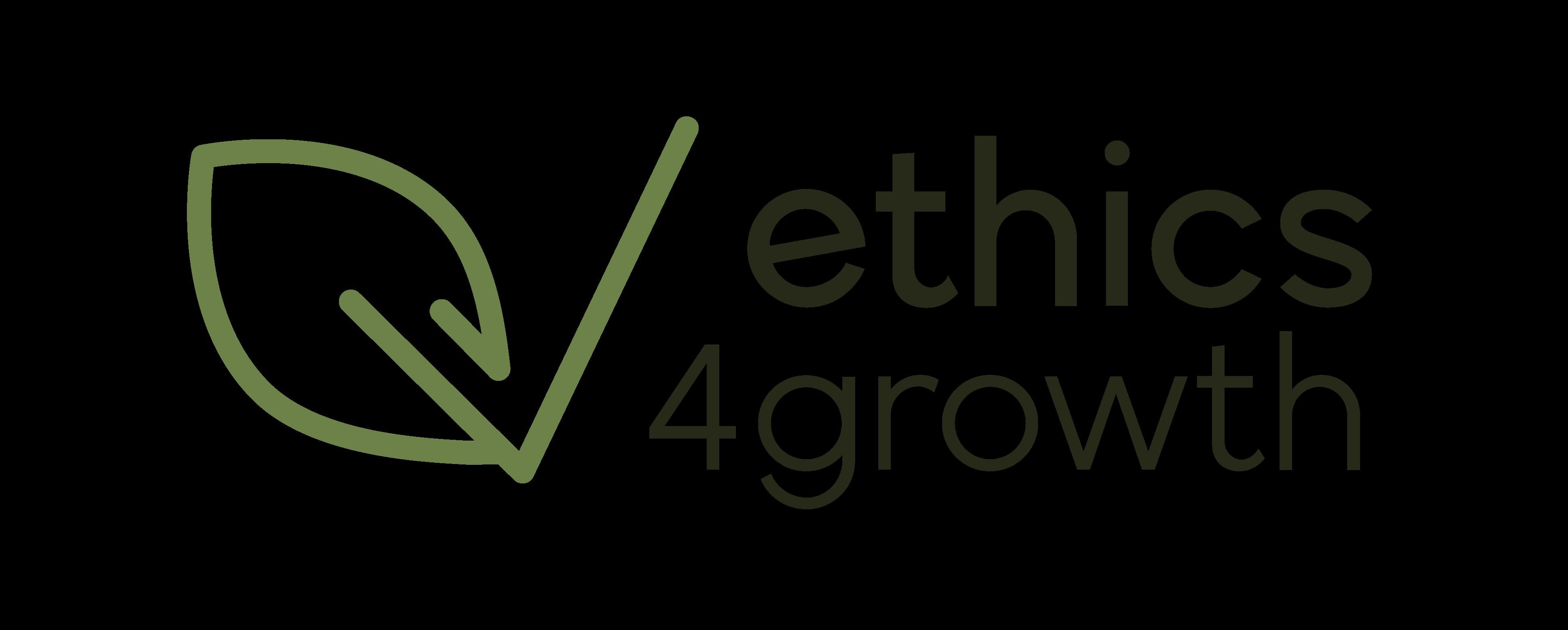 Logo ethics4growth transparente